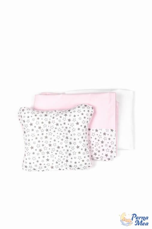 Set lenjerie Confort stele roz 3 piese