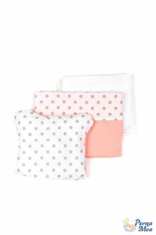 Set lenjerie Confort buline piersic 3 piese